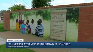 New Bartlesville Public Library mural honors former librarian