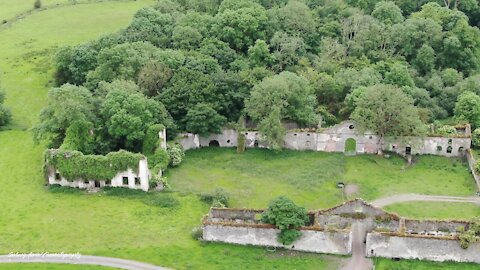 Epic drone footage captures ancient castle ruins in Ireland