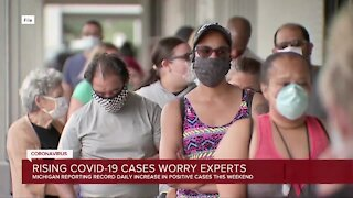 Rising COVID-19 cases in Michigan worry experts