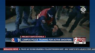 Campus police training for active shooters