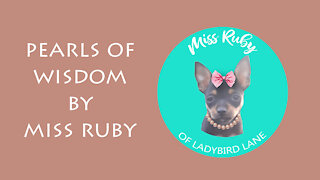 Quick Thought from Miss Ruby