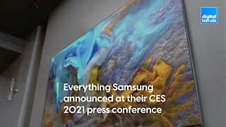 Everything Samsung announced at their CES 2021 press conference