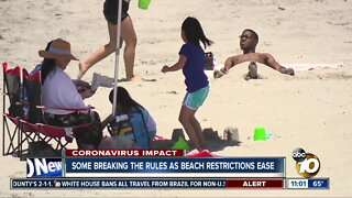 Some breaking the rules at the beach Memorial Day weekend