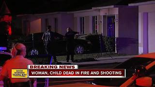 Woman and girl dead in Riverview shooting and house fire, boy critically injured