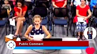 Amazing School Girl Speaks Out Against Woke School Board Hypocrisy