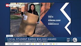 Local student earns $50,000 in science talent search