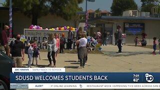SDUSD elementary school return to campus