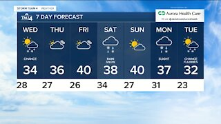 A cloudy and cool Wednesday with a chance of flurries