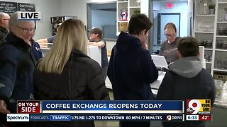 The Coffee Exchange reopens after fire