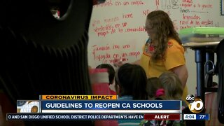Guidelines to reopen CA schools