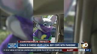 Chuck E. Cheese helps local boy cope with pandemic