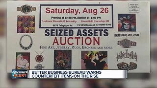 BetterBusiness Bureau warns counterfeit items on the rise