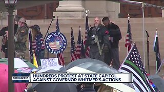 Protest held in Lansing against Whitmer's request to extend state of emergency