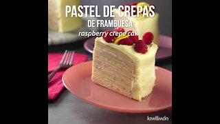 Raspberry Crape Cake