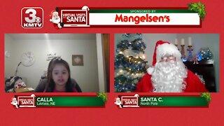 Virtual Santa visit with Calla