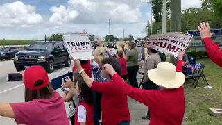 Enthusiastic crowd greets President Trump in Canal Point