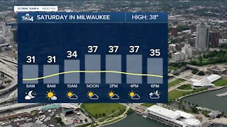Saturday is mostly sunny with temps in the 30s