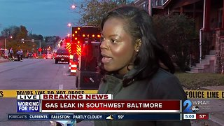 Residents evacuated after gas leak in Southwest Baltimore