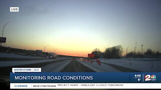 Icy road conditions pose dangers for drivers
