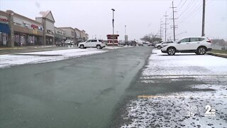 Snow covers Westminster in Carroll County