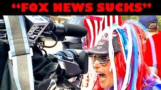 "Fox News Cameraman Steps Aside As Patriots Yell ""FOX NEWS SUCKS"" Into His Camera"
