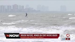 Hurricane Michael brings rough waters to Fort Myers Beach