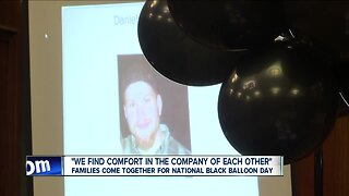 Families come together for National Black Balloon Day