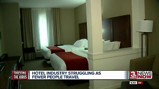 Hotel industry struggling as fewer people travel