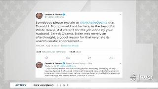 President Trump responds to Michelle Obama speech