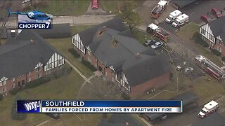 Families forced from homes by apartment fire