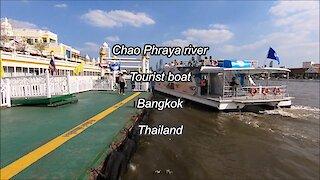 Chao Phraya river tourist boat, Bangkok, Thailand