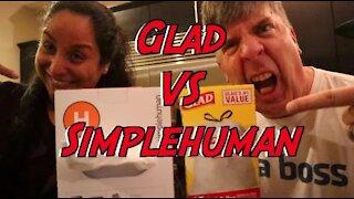Trash Wars - SimpleHuman vs Glad Bags, Strength Test!