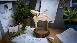 Ever seen wood carving like this?