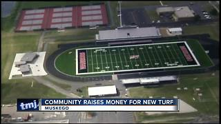Donations help complete Muskego High School football field