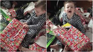 Kid gets scariest Christmas present ever!