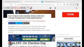 George Soros tied to voting machines?
