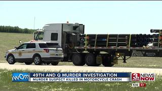 Weekend murder suspect killed in motorcycle crash