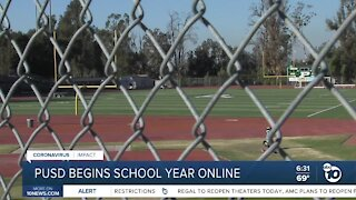 Poway Unified schools begin school year online
