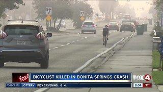 Bicyclist killed in car crash
