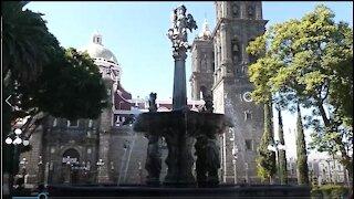 The Main Plaza in Puebla, Mexico