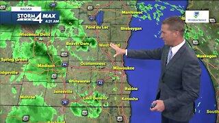Warm with rain showers Wednesday