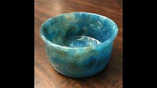 Forstner Bit Shavings Bowl by GarageKrafts.com
