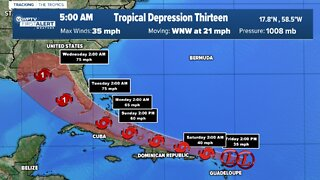 Tropical Update: Friday 5 a.m.