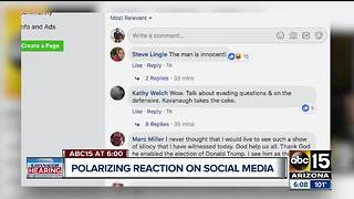 Social media reaction pouring in after Kavanaugh hearing