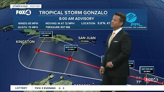 Tropical Storm Gonzalo expected to become a hurricane
