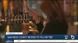 San Diego County moving to yellow tier