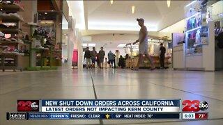 New shut down orders across California, latest orders not impacting Kern County