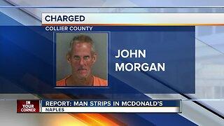 Deputies: Man strips inside McDonald's