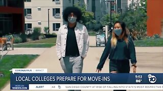 More San Diego colleges prepare for move-ins