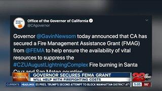 Governor Newsom secures FEMA grant